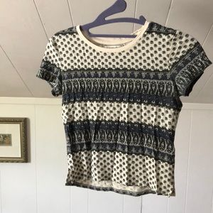 American Eagle Outfitters Patterned Baby Tee